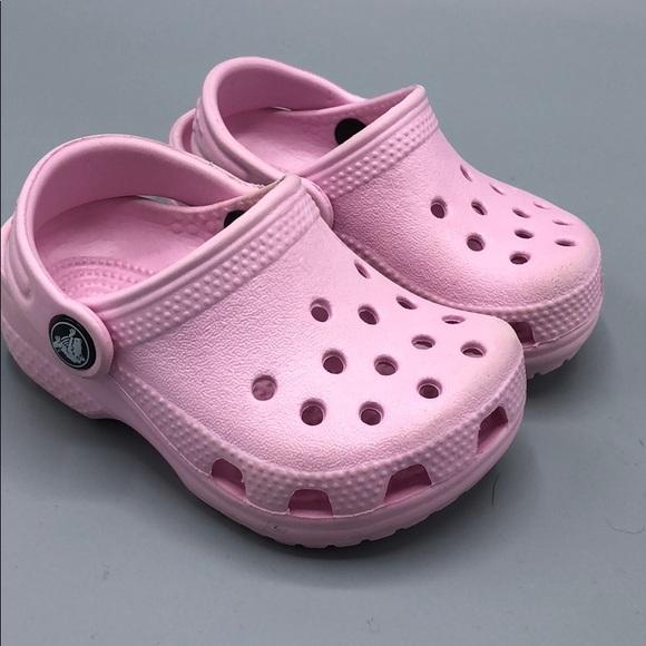 814381ad889b1 CROCS Other - Kids Crocs littles ballerina pink SZ 2 3 clog mule